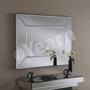 ART 57 Rectangular Silver Mirror