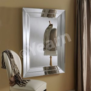 Athens Rectangular Silver Mirror