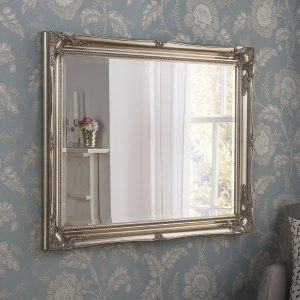 YG 619 Swept Rectangular Mirror Silver