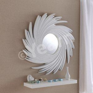 Art 295 Silver Swirl Mirror