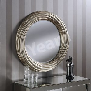YG 222 Silver Round Contemporary Mirror