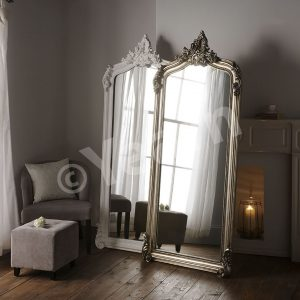 YG 136 Ornate Swept Rectangular Mirror