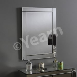 Berlin Rectangular Silver Mirror