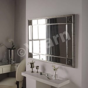 Elegance Contemporary Design Mirror Silver