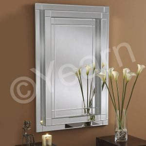 ART 61 Rectangular Silver Mirror