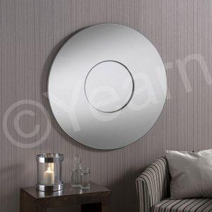 BD441 Round Art Deco Mirror