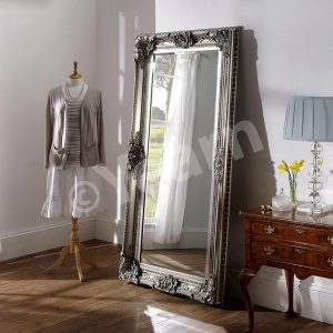 YG 256 Swept Ornate Mirror Silver