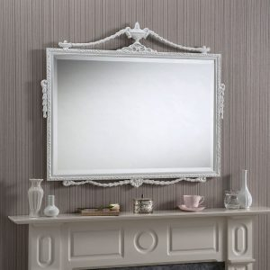 ADAM-WHITE Small Mantle MIrror