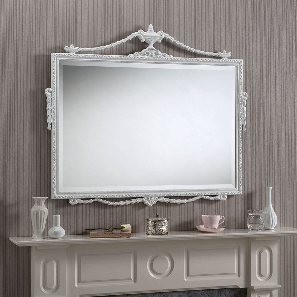 small decorative mirrors an decorative mantle mirror with slim frame 30580