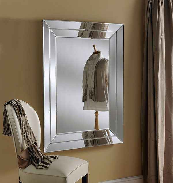 ART 59 Silver art deco mirror