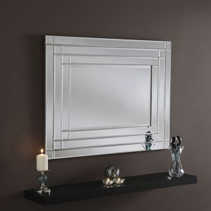 ART30 art deco silver mirror