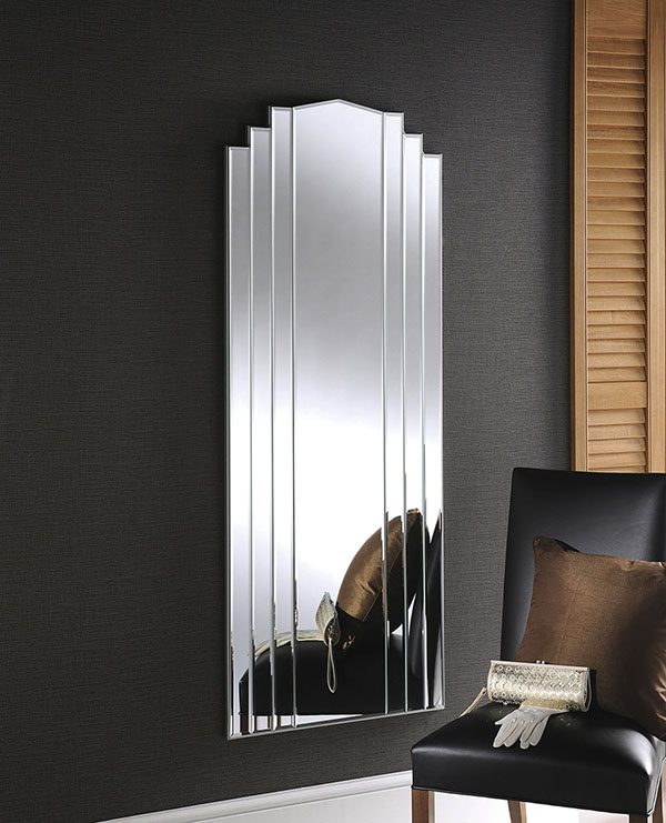 This One Of A Kind Multi Faceted Framed Mirror Is Perfect For Reflecting The Light