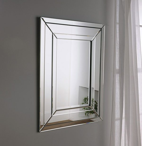 ART480 silver art deco mirror
