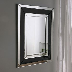 Art 480 Art deco mirror (black)