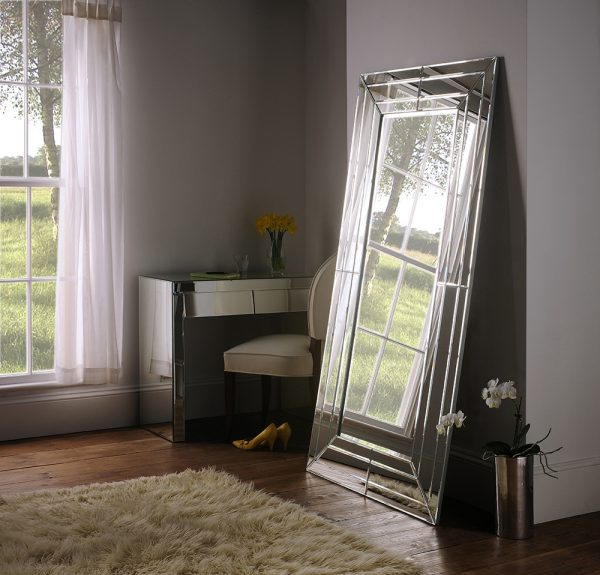 Art271 Flat Frame 3 section mirror silver