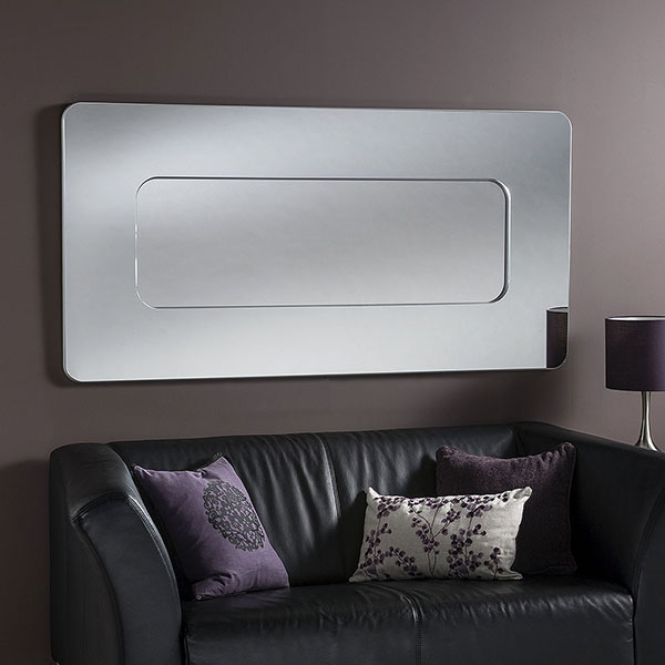 BD390 Contemporary Silver Mirror