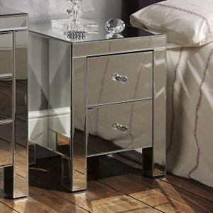 MF20 Mirrored Bedside Cabinet