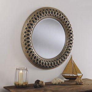 OV24 Round Swept mirror silver