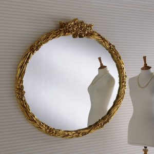 YG210 Oval Detailed Mirror GOLD