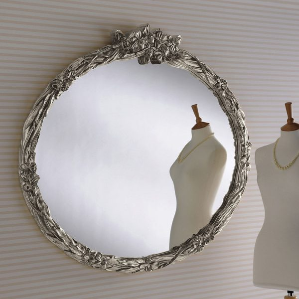 YG210 Oval Detailed Mirror SILVER