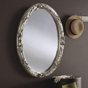 YG230 Oval Mirror Silver