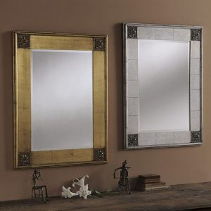YG38 Distressed Baroque Mirror