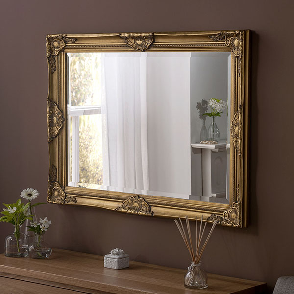 YG699 Swept Frame Mirror GOLD