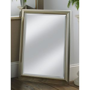 YG742 slim scooped frame mirror silver