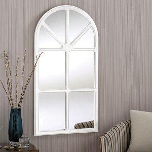 YG90 White Classic Window MIrror