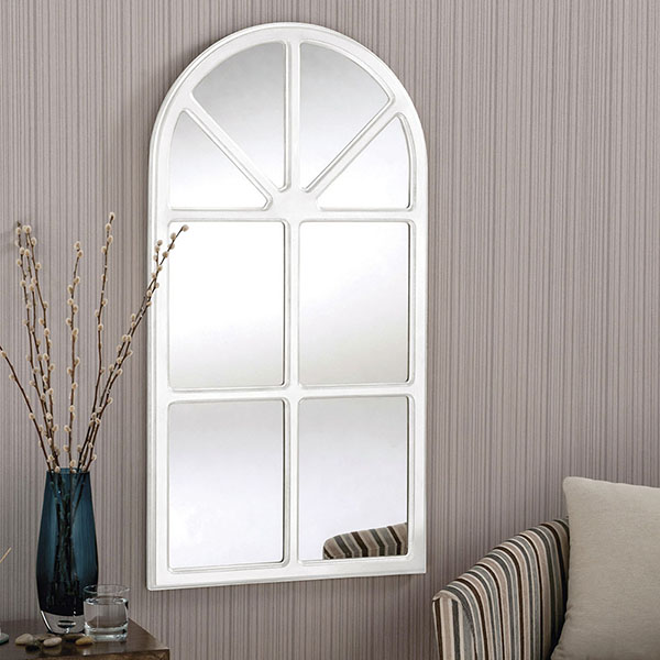 Classic Window Design Mirror Available In White Or Silver